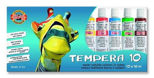 Koh-i-noor barvy temperové/tempery sada 10 x16 ml - Žirafa