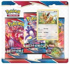 Pokémon TCG: SWSH05 Battle Styles - 3 Blister Booster Eevee
