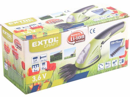 Extol Craft nůžky na trávu a živé ploty aku 3,6V Li-ion, 1300mAh