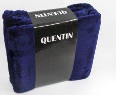 QUENTIN deka mikroflanel 150x200 cm tmavě modrá
