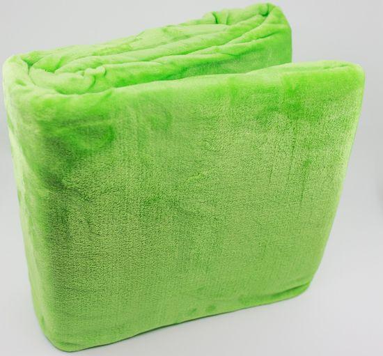 QUENTIN Deka mikroflanel 150x200 cm zelená