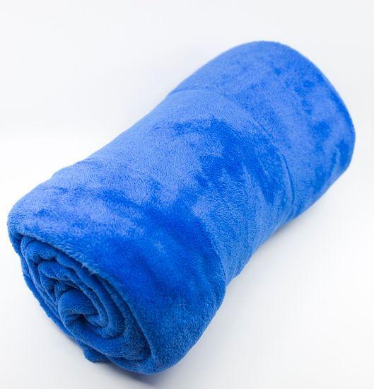 QUENTIN Deka mikrofleece 150x200 cm modrá