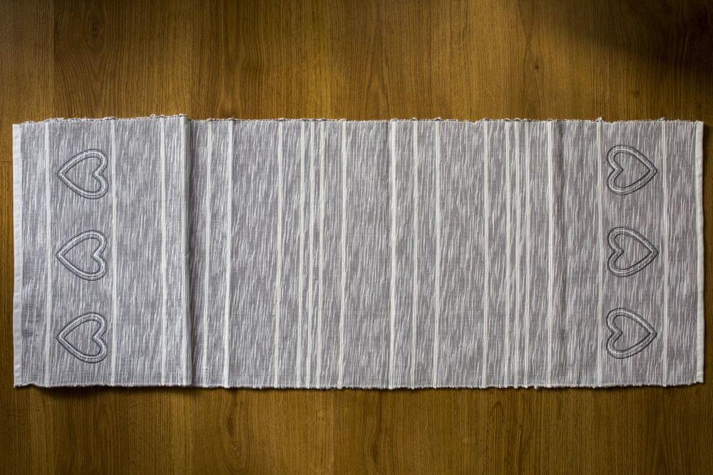 QUENTIN běhoun na stůl 35x130 cm šedá