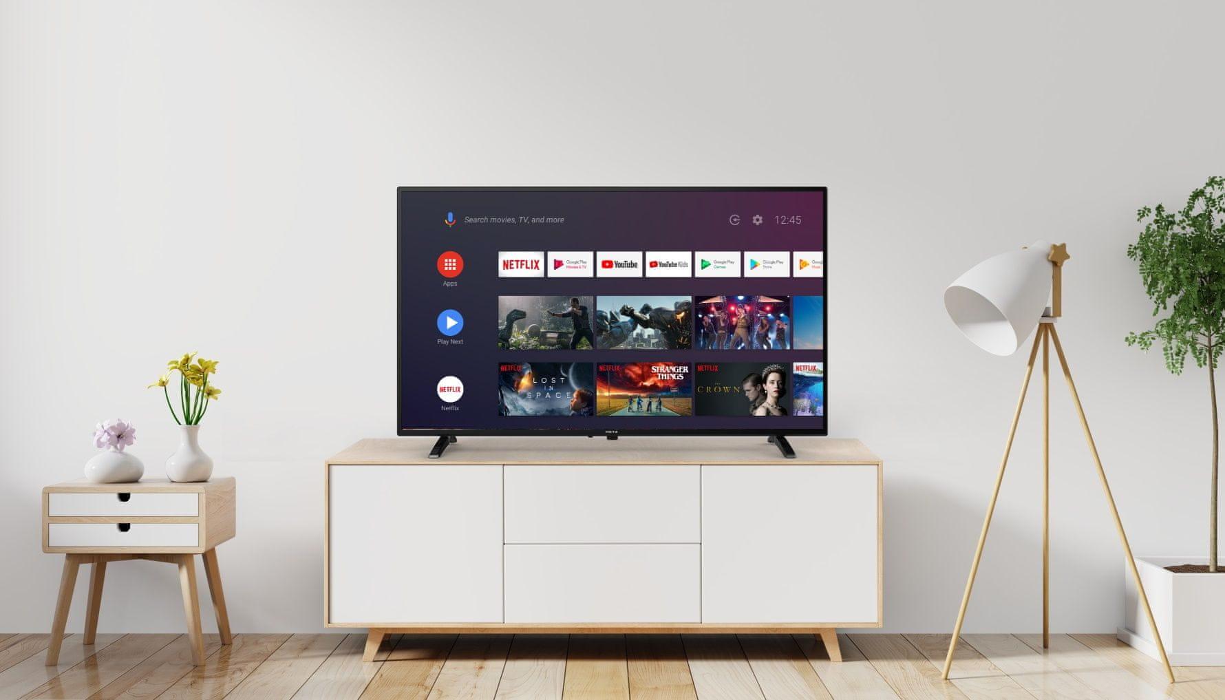 metz tv televize hd 2021 youtube netflix prime video herní režim