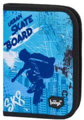 BAAGL piórnik szkolny klasyczny z dwiema klapkami Skateboard
