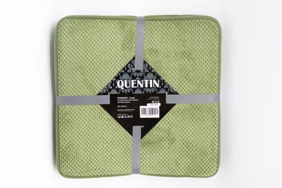 QUENTIN podsedáky 40x40 cm 4 ks zelená
