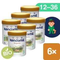 Kendamil BIO Nature batolecí mléko 3 (6x 800 g) DHA+