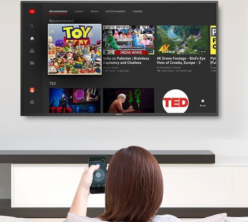 metz tv telewizor hd 2021 google assistant