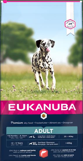 Eukanuba hrana za pse Adult Large & Giant Salmon, 12 kg