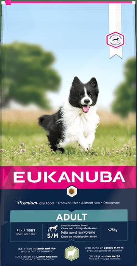 Eukanuba Adult Small & Medium Lamb 12 kg