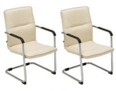 BHM Germany Konferenční židle Seattle (SET 2 ks), krémová
