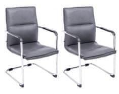 BHM Germany Konferenční židle Seattle (SET 2 ks), šedá