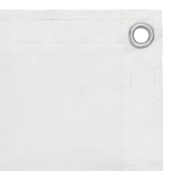 shumee fehér oxford-szövet erkélyparaván 75 x 300 cm
