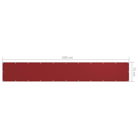 shumee piros oxford-szövet erkélyparaván 75 x 500 cm