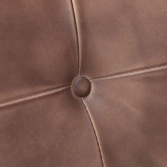 shumee 4 db antikolt barna valódi bőr szánkótalpas étkezőszék