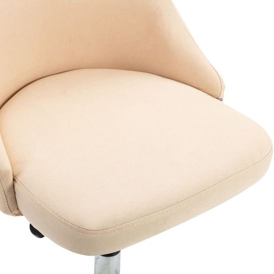 Petromila Jedálenské stoličky 6 ks, krémové, látka