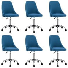 shumee Jedilni stoli 6 kosov modro blago