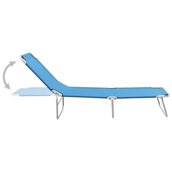 shumee Składany leżak, stal i tkanina, turkusowoniebieski