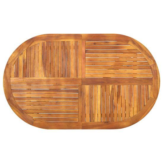 shumee 5 ks. sada záhradného nábytku, masívne agátové drevo