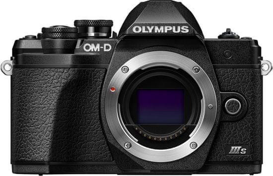 Olympus kompaktni digitalni fotoaparat E-M10 III S Body Black, črn