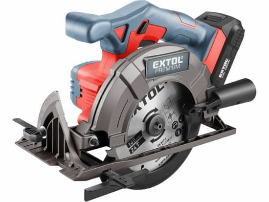 Extol Premium pila kotoučová aku SHARE20V, 165mm, 20V Li-ion, 2000mAh