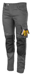 Promacher Ľahké pracovné nohavice Erebos Light sivá/čierna 52