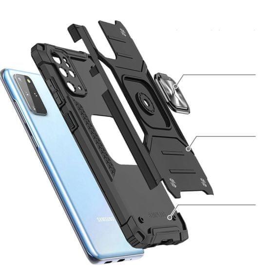 MG Ring Armor plastika ovitek za Samsung Galaxy S20 Plus, črna