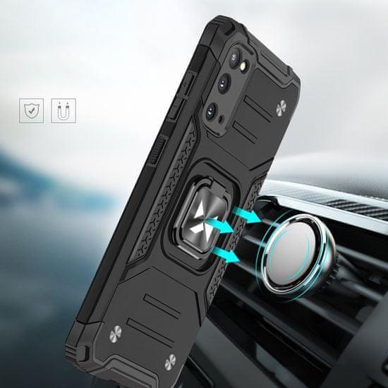 MG Ring Armor műanyag tok Samsung Galaxy S20 Ultra, rózsaszín
