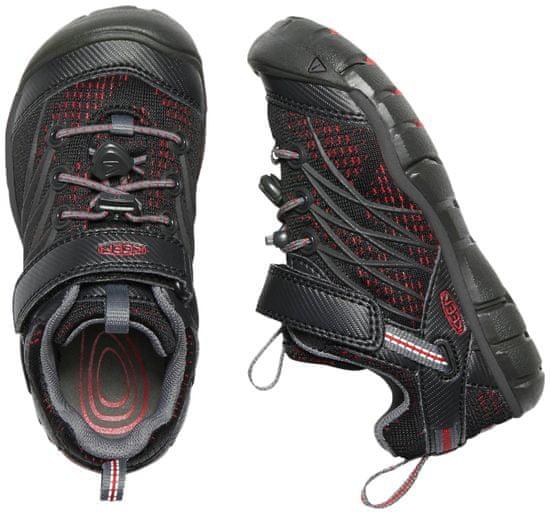 KEEN otroški čevlji za prosti čas Chandler Cnx K Raven/Fiery Red