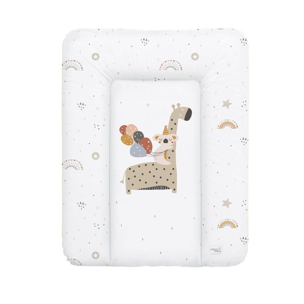 Ceba Baby Podložka přebalovací měkká 50 x 70 cm Giraffe