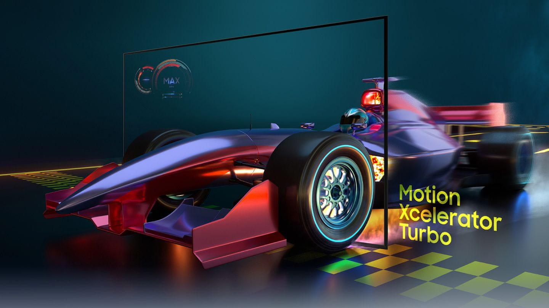 samsung tv televízió edge led 4K 2021 gamer tv allm game bar motion xcelerator turbo