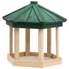 shumee Osemuholníkové krmítko pre vtáky Masívne jedľové drevo 33x30 cm