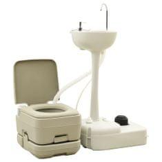 shumee 10 + 10 L Prenosno turistično stranišče z 20 L umivalnikom sive barve