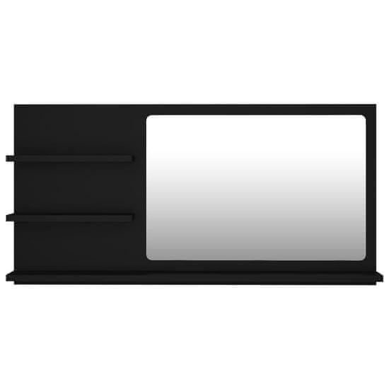 shumee Lustro łazienkowe, czarne, 90x10,5x45 cm, płyta wiórowa