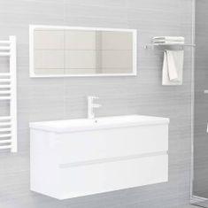 shumee 2-dielna súprava kúpeľňového nábytku lesklá biela drevotrieska