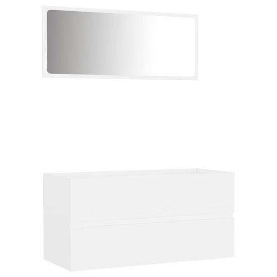 shumee 2-delni komplet kopalniškega pohištva Bela iverna plošča