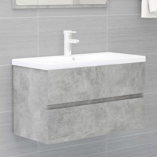shumee 2-delni komplet kopalniškega pohištva Betonsko siva plošča