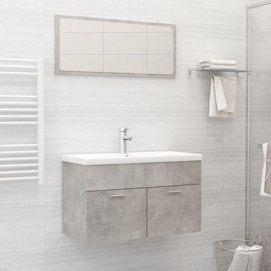 shumee 2-częściowy zestaw mebli łazienkowych, szarość betonu, płyta