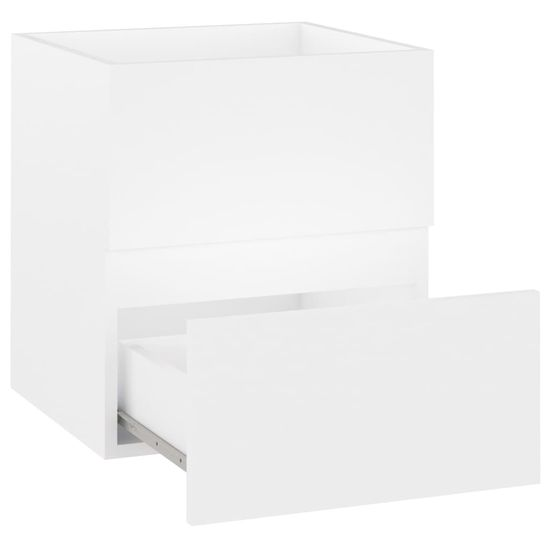 shumee fehér forgácslap mosdószekrény 41 x 38,5 x 45 cm