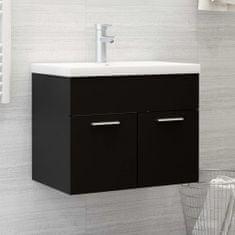 shumee Omarica za umivalnik Črna 60x38,5x46 cm Iverna plošča