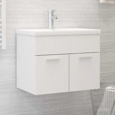 shumee Omarica za umivalnik Bela 60x38,5x46 cm Iverna plošča