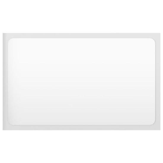 shumee Lustro łazienkowe, wysoki połysk, białe, 60x1,5x37 cm, płyta