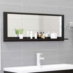Vidaxl Koupelnové zrcadlo černé vysoký lesk 100x10,5x37 cm dřevotříska