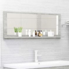 Vidaxl Koupelnové zrcadlo betonově šedé 100 x 10,5 x 37 cm dřevotříska