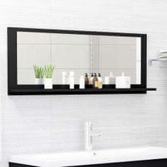 Vidaxl Koupelnové zrcadlo černé 100 x 10,5 x 37 cm dřevotříska
