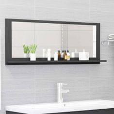 Vidaxl Koupelnové zrcadlo šedé 100 x 10,5 x 37 cm dřevotříska