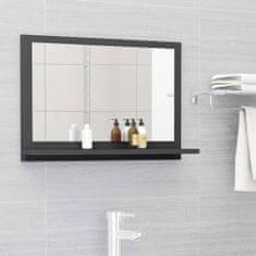 Vidaxl Koupelnové zrcadlo šedé 60 x 10,5 x 37 cm dřevotříska