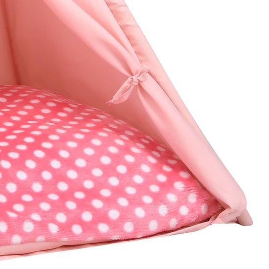 shumee rózsaszín barackhéj macska tipisátor zsákkal 60 x 60 x 70 cm