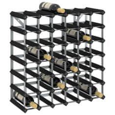 shumee Stojalo za vino za 42 steklenic črno trdna borovina