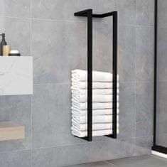 shumee Držalo za brisače črno 25x20x95 cm železo